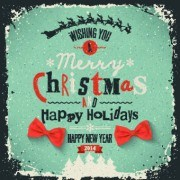 Link toGrunge style 2014 christmas holiday backgrounds 03 vector