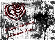 Link toGrunge valentine's day card vector free