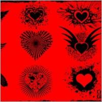 Link toGrunge vector hearts