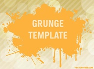 Link toGrunge vector template free