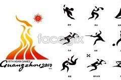 Link toGuangzhou 2010 asian games and sports icon logo vector