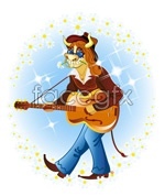 Link toGuitar cartoon cow images vector