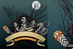 Link toGuitar skull halloween vector