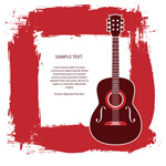 Link toGuitar text background vector
