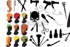 Link toHair theme character avatar silhouette vector