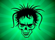Link toHairy punk skull vector free