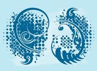 Link toHalftone swirls graphics vector free
