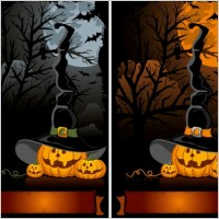 Link toHalloween cartoon background 02 vector