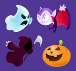 Link toHalloween cartoon roles vector