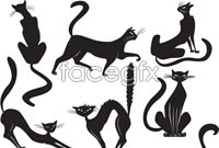 Link toHalloween cat silhouettes vector