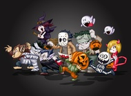 Link toHalloween characters vector free