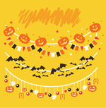 Link toHalloween decorations ornaments vector