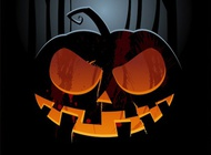 Halloween flyer graphics vector free