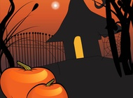 Link toHalloween house poster vector free