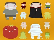 Link toHalloween monsters vector free