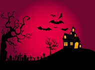 Halloween night design vector free