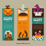 Halloween party banne vector