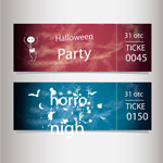 Link toHalloween party tickets vector