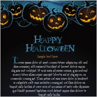 Link toHalloween posters beautiful background 02 vector