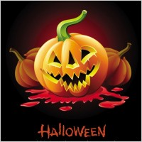 Link toHalloween posters beautiful background 05 vector