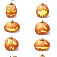 Link toHalloween pumpkin emoticons icons pack
