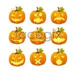 Link toHalloween pumpkin face vector