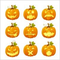 Link toHalloween pumpkin head vector emoticons