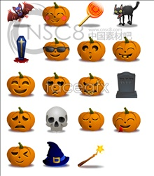 Link toHalloween pumpkin series icons