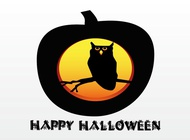 Link toHalloween pumpkin with owl vector free