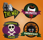 Link toHalloween tag design vector