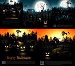 Link toHalloween-themed backgrounds vector