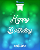 Link toHalo birthday backgrounds vector