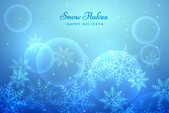 Link toHalo blue snowflake card vector