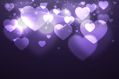 Link toHalo purple love background vector