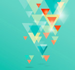 Link toHalo triangular background vector
