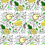Link toHamburgers and fruit background vector