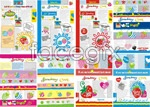 Link toHan feng strawberries layout vector