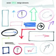 Link toHand drawing different signs vectors graphics 04 free