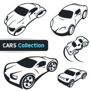 Link toHand drawn abstract car set vector free