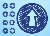 Link toHand drawn arrow icons vector free