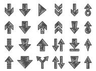 Link toHand drawn arrow set vector free
