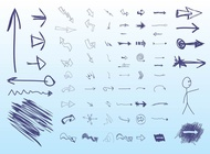 Link toHand drawn arrows vector free