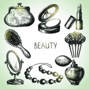 Link toHand drawn beauty elements icons vector graphics free