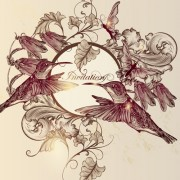 Link toHand drawn birds vintage style vector 01 free