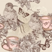 Link toHand drawn birds vintage style vector 04 free