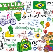Link toHand drawn brazil elements vector 02 free