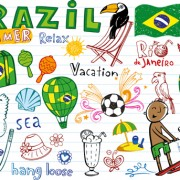 Link toHand drawn brazil elements vector 03 free