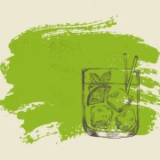 Link toHand drawn cocktail with grunge background 05 free