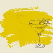 Link toHand drawn cocktail with grunge background 06 free