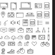 Link toHand drawn cute icons vector free